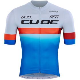 Cube Teamline SS Jersey Men, azul/blanco